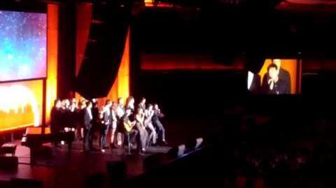 """Cast of Glee - """"Smile"""" at Trevor Live 2013"""