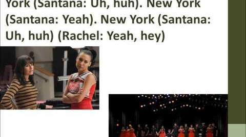 Empire State of Mind Glee Lyrics