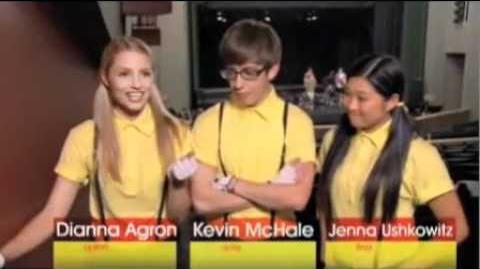 Glee - Behind-the-scenes of Wheels