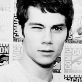 Dylan o'brien wink black and white gorgeous sexy cute