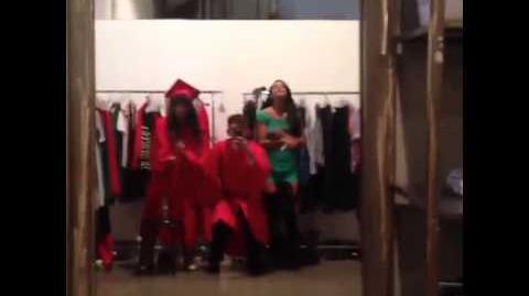 Glee Season 5 Photoshoot Behind The Scenes Kevin McHale Naya Rivera Jenna Ushkowitz
