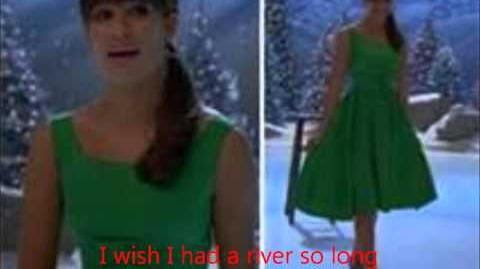 River- glee with lyrics