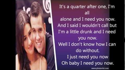 Glee-Need you now Lyrics