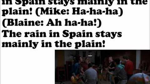 The Rain In Spain Glee Lyrics