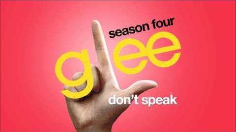 Don't Speak Glee HD FULL STUDIO