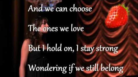 Glee cast Pretending lyrics paroles