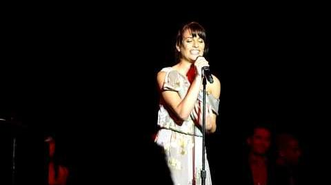 Lea Michele Singing Maybe This Time