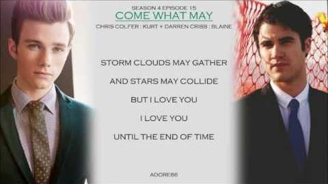 Glee Come What May Lyrics