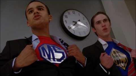 Glee - Superman (Full performance fight scene) 4x07