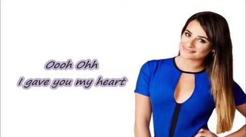 Glee-Don't go breaking my heart Lyrics