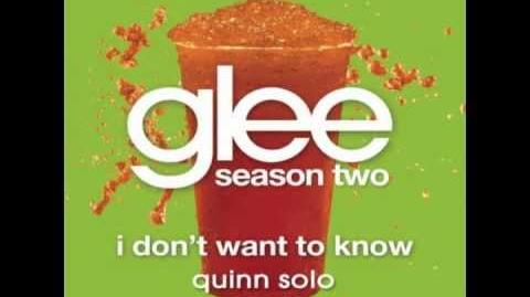 Glee - I Don't Want To Know - Quinn Solo-1