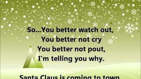 Glee - Santa Claus is coming to town - Lyrics