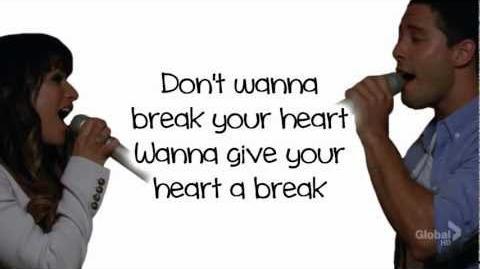 Glee - Give Your Heart A Break (Lyrics)-0