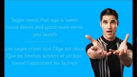Glee - No time at all Paroles & Traduction