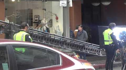 Glee filming in DTLA
