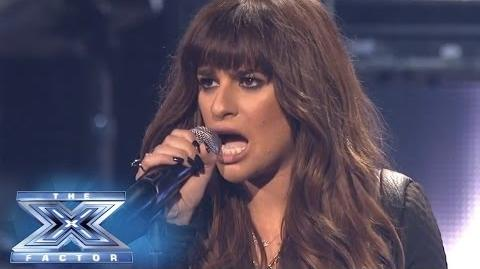"Finale Lea Michele Performs ""Cannonball"" - THE X FACTOR USA 2013"