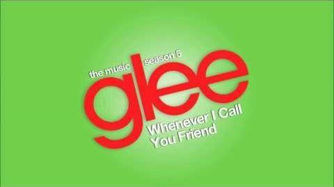 Whenever I Call You Friend Glee HD FULL STUDIO