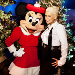 xtina mit Minnie Maus