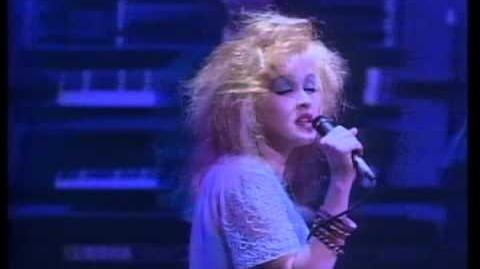 """TRUE COLORS""-(Cyndi Lauper, Live in Paris)."