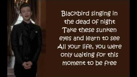 Glee - Blackbird (lyrics)