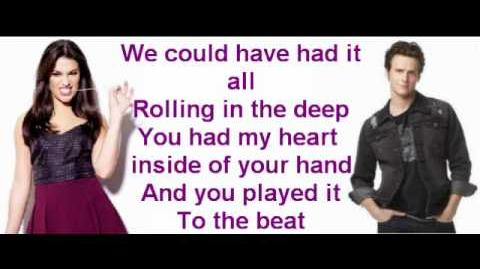 Rolling in the deep By Glee cast With lyrics