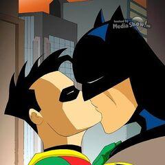 Robin & Batman kiss