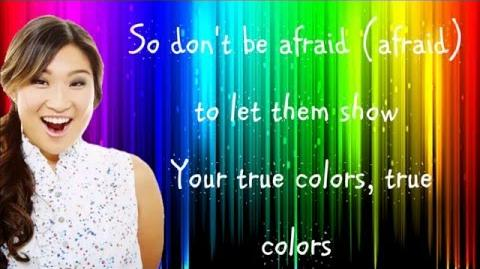 Glee - True Colors (Lyrics) HD