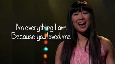 Glee - Because You Loved Me (Lyrics)