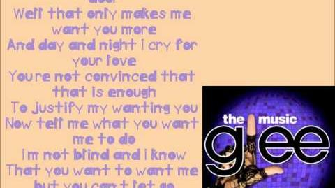 Burning Up Glee Lyrics