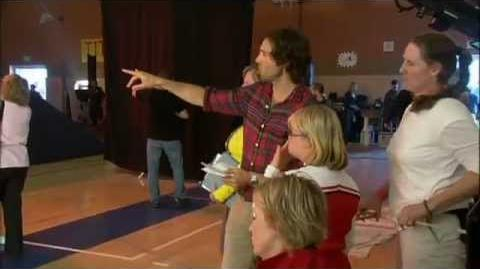 Behind the scenes The Sue Sylvester Bowl Shuffle