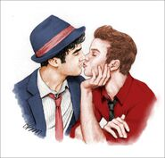 Klaine kiss
