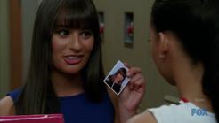 Glee=3x17 - Santana's Locker - Rachel's Picture 1