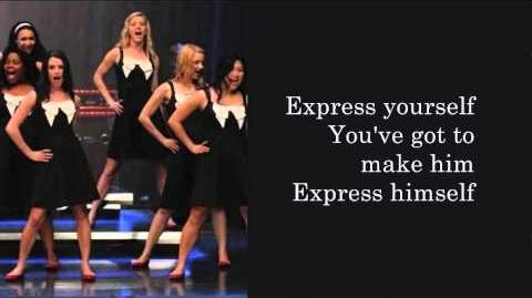 Glee - Express Yourself (Lyrics)