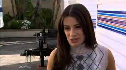 Glee Rare Interview with Lea Michele about Episode 1x02 Showmance