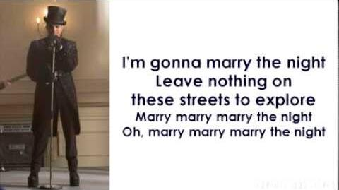 Glee - Marry The Night (Lyrics)