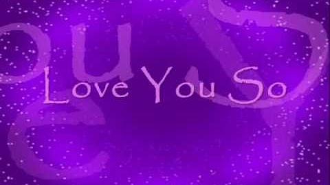 Lyrics of love you so by natalie