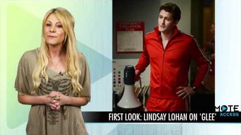 (Lindsay Lohan On Glee and Nationals Sneak Peek!