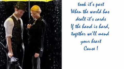 Singing in the Rain Under my Umbrella - Glee Cast- Lyrics