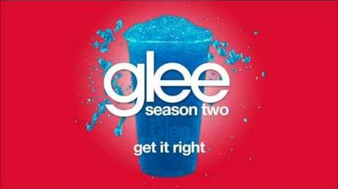 Get It Right Glee HD FULL STUDIO