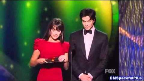 Ian Somerhalder and Lea Michele Presents on the Emmys 2011 Outstanding Directing Don Roy King