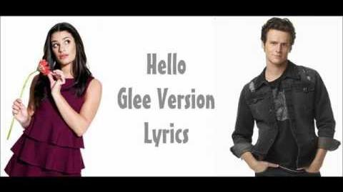 Hello - Glee Lyrics