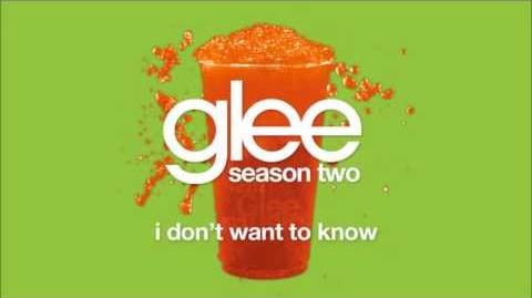 I Don't Want To Know Glee HD FULL STUDIO