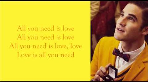 Glee - All You Need Is Love (Lyrics)