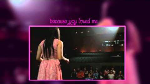 Glee Performance-Because You Loved Me