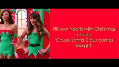 Glee Here come Santa Clous Lyrics