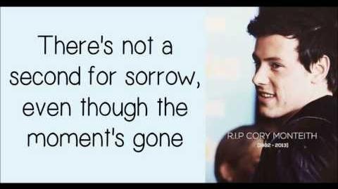Glee Cory Monteith - Not The End (Lyrics) HD