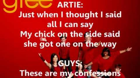 Glee - It's My Life Confessions Mashup Lyrics