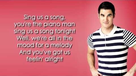 Glee - Piano Man (Lyrics)