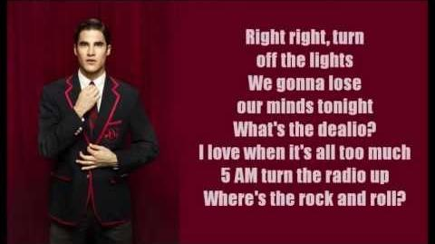 Glee - Raise Your Glass (lyrics)