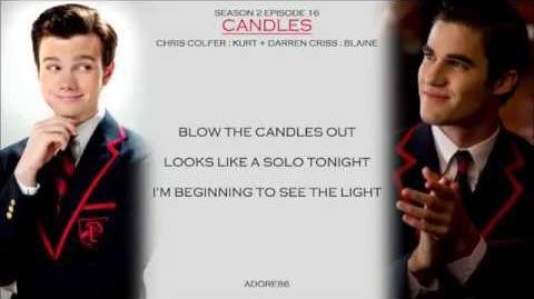 Glee Candles Lyrics